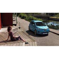 Renault ZOE Bleu Front Driving